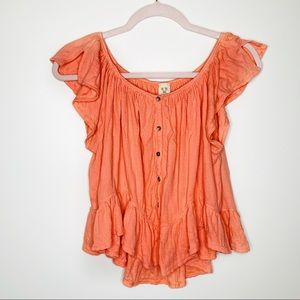 Free People [We The Free] Mint Julep Tee Coral